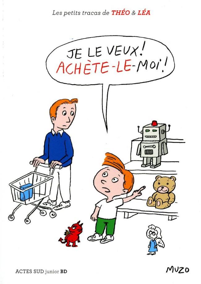 Couverture de Les petits tracas de Théo & Léa -7- Je le veux ! achète-le-moi !