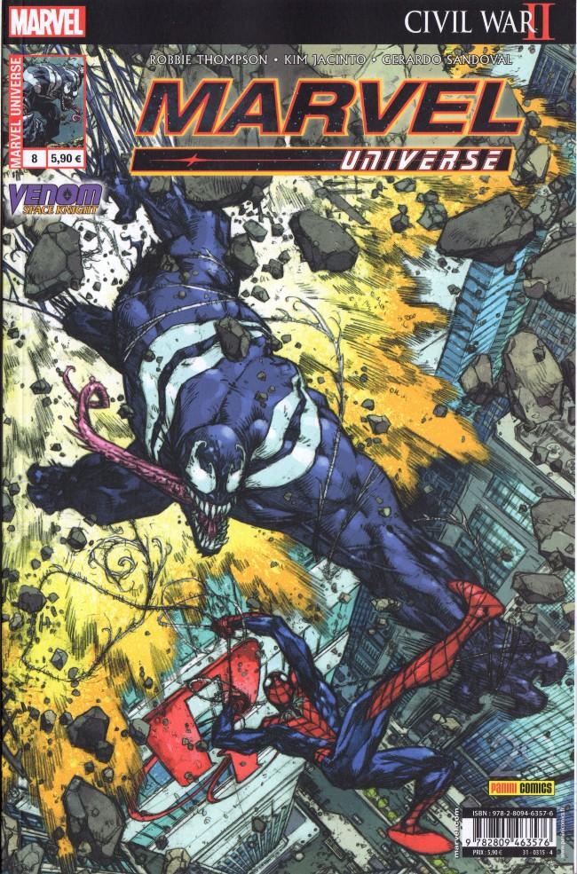 Couverture de Marvel Universe (Panini - 2016) -8- Venom : Chevalier de l'espace - Amis et Ennemis
