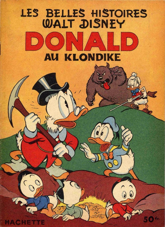Couverture de Les belles histoires Walt Disney (1re Série) -58- Donald au Klondike