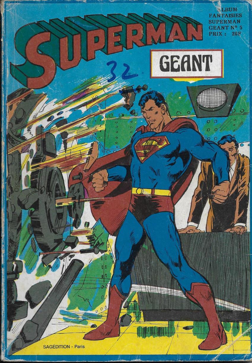 Couverture de Superman Géant (Sagédition - 2e série) -Rec10- Album Fantaisies Géant N°5 (du n°28 au n°29)