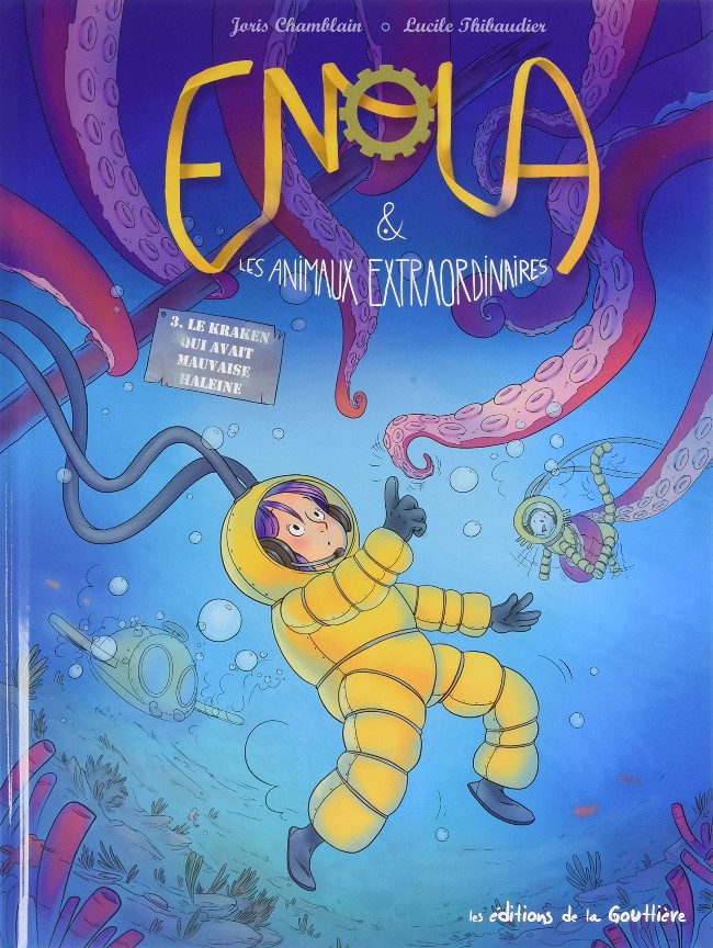 Couverture de Enola et les animaux extraordinaires -3- Le Kraken qui avait mauvaise haleine