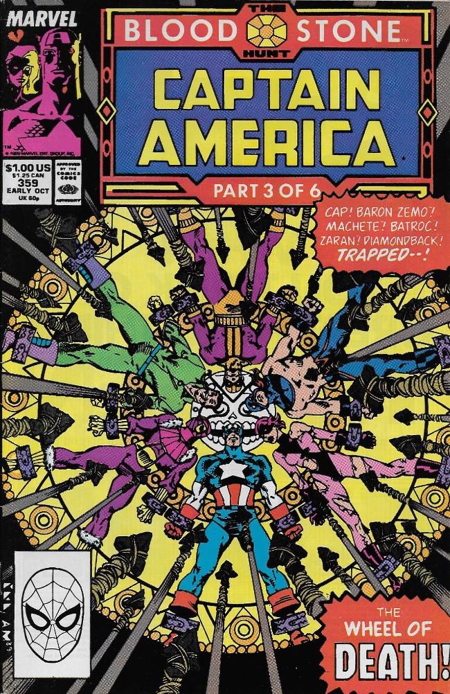 Couverture de Captain America (Marvel comics - 1968) -359- The Blood Stone Hunt part 3