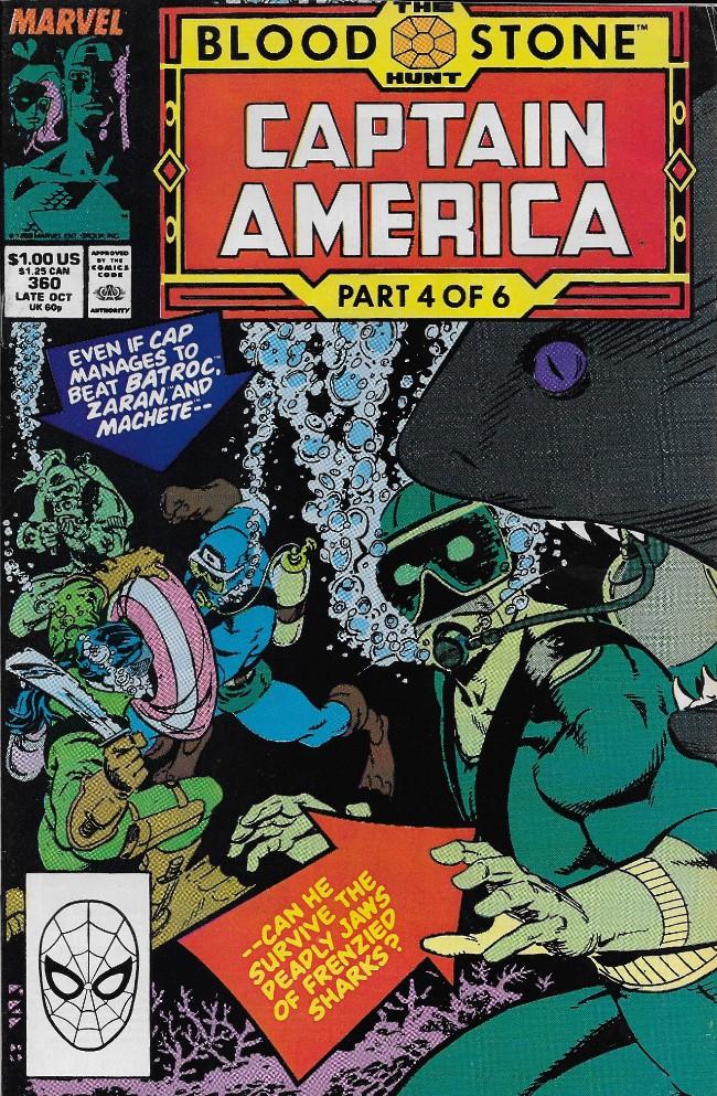 Couverture de Captain America (1968) -360- The Blood Stone Hunt part 4