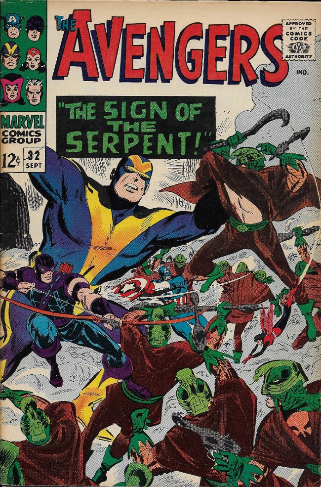 Couverture de Avengers Vol. 1 (Marvel Comics - 1963) -32- The Sign of the Serpent !