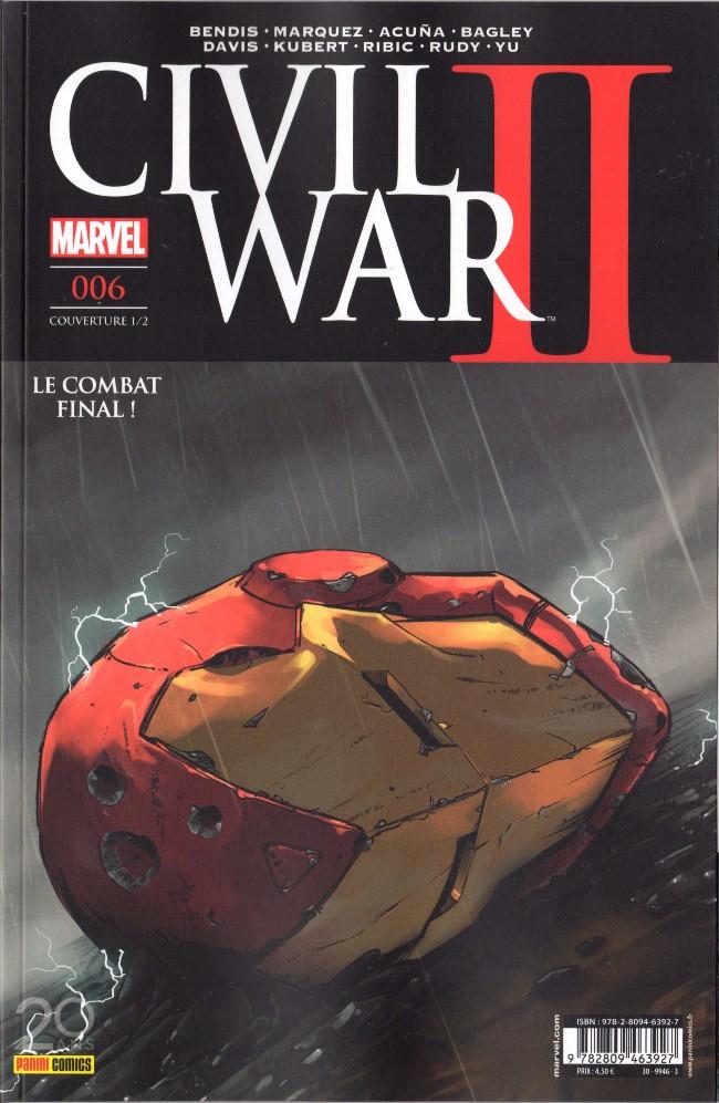 Couverture de Civil War II -61/2- Tome 6