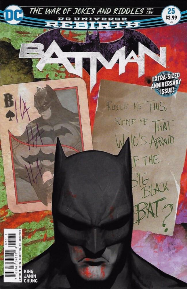 Couverture de Batman (2016) -25- The War of Jokes and Riddles, Part One