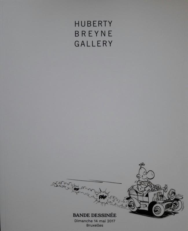 Couverture de (Catalogues) Ventes aux enchères - Divers - Huberty Breyne Gallery - Bandes dessinées - Dimanche 14 mai 2017 - Bruxelles