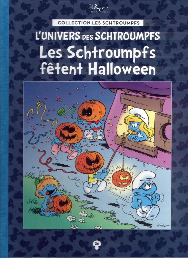 Couverture de Les schtroumpfs - La collection (Hachette) -36- Les Schtroumpfs fêtent Halloween