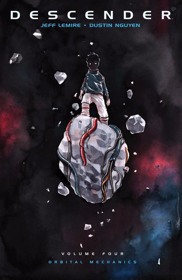 Couverture de Descender (Image comics - 2015) -INT04- Volume Four - Orbital Mechanics