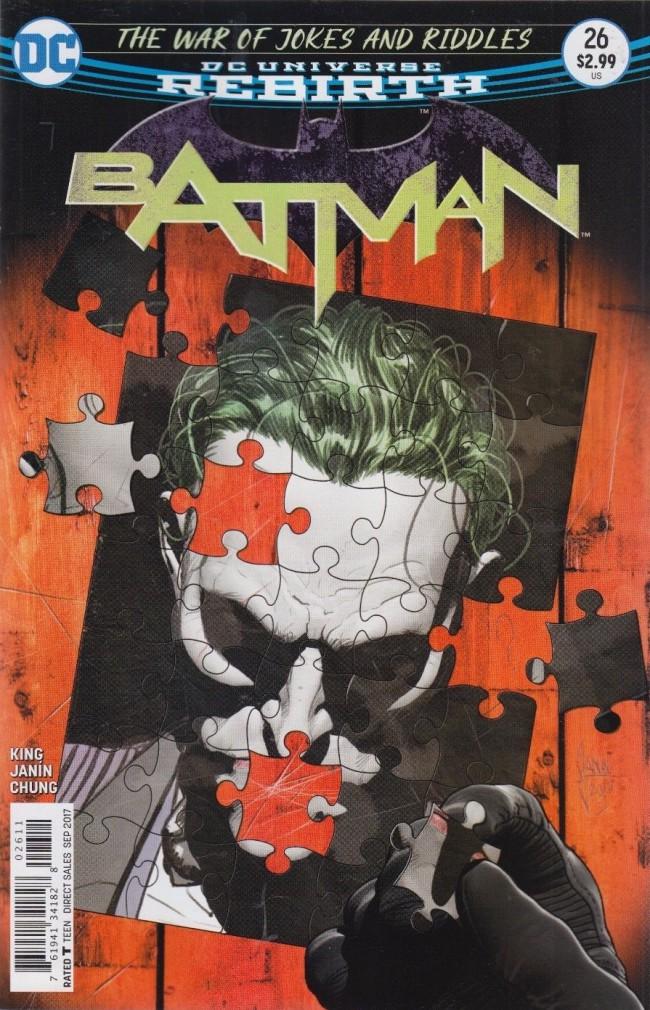 Couverture de Batman (2016) -26- The War of Jokes and Riddles, Part Two