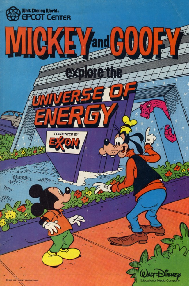 Couverture de Mickey and Goofy explore the universe of energy