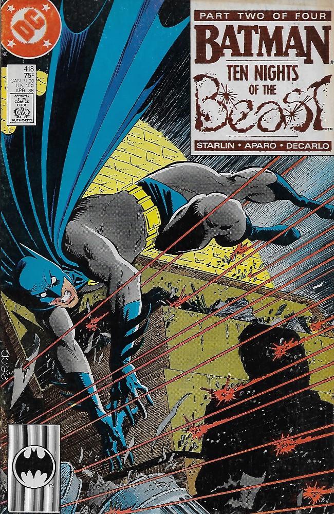 Couverture de Batman Vol.1 (DC Comics - 1940) -418- Ten Nights of the Beast, part 2