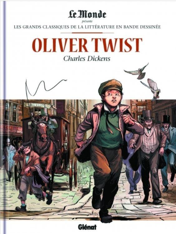 Couverture de Les grands Classiques de la littérature en bande dessinée -15- Oliver Twist
