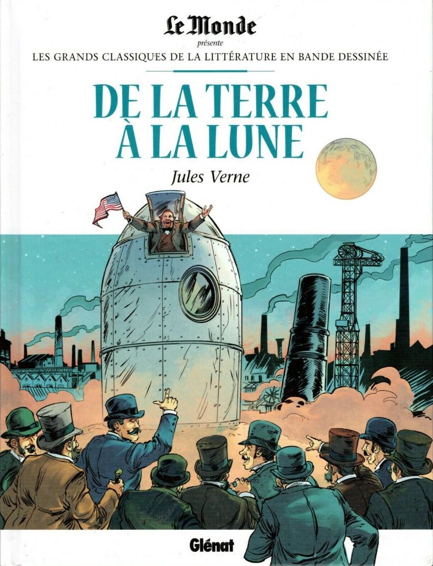Couverture de Les grands Classiques de la littérature en bande dessinée -16- De la Terre à la Lune
