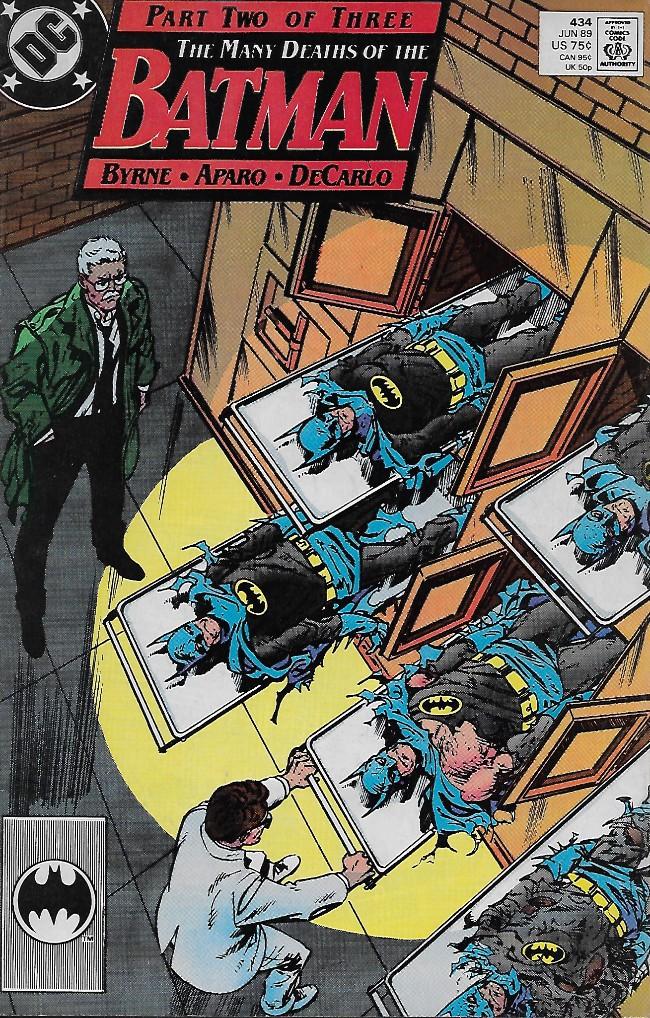 Couverture de Batman Vol.1 (DC Comics - 1940) -434- The Many Death of the Batman Chapter two: How Many Times Can a Batman Die?