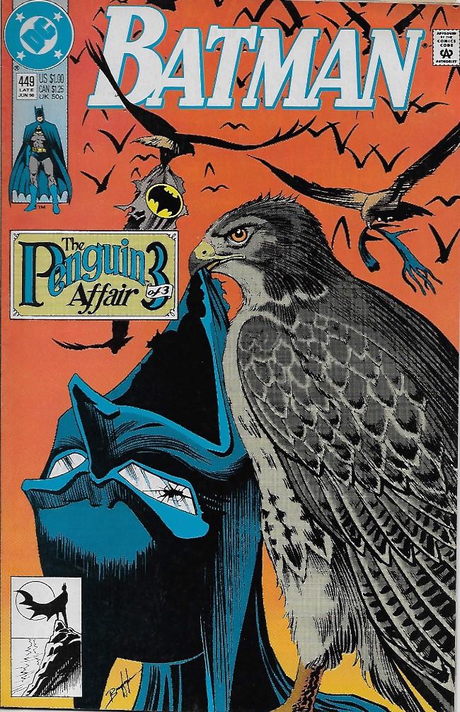 Couverture de Batman Vol.1 (DC Comics - 1940) -449- The Penguin Affair III: Winged Vengeance