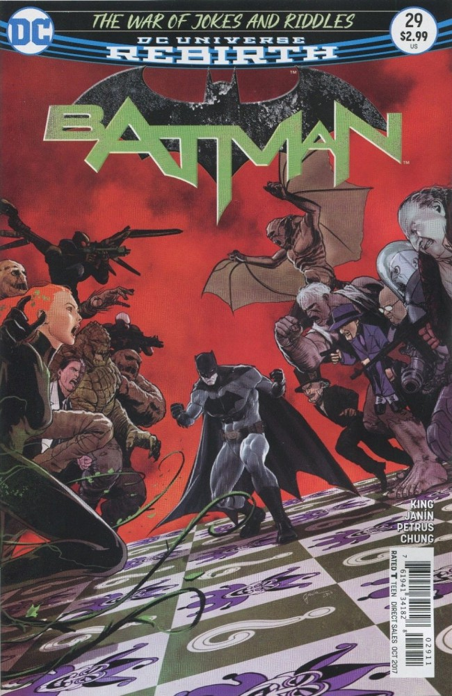 Couverture de Batman (2016) -29- The War of Jokes and Riddles, Part Four