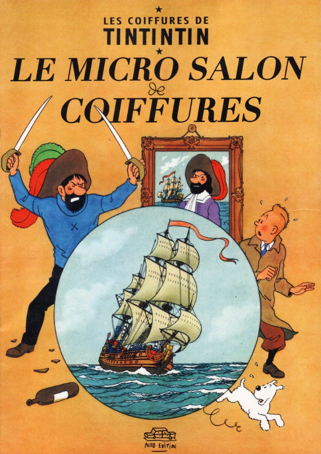 Couverture de Tintin - Pastiches, parodies & pirates - Les coiffures de Tintintin - Le Micro salon de coiffures