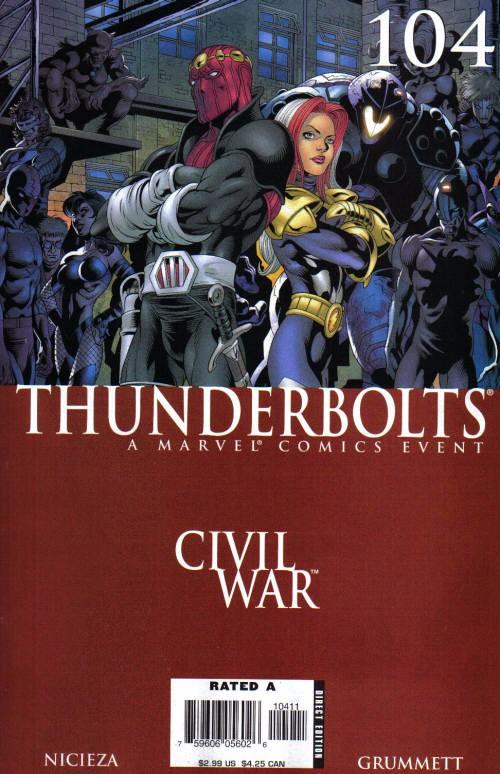 Couverture de Thunderbolts Vol.1 (Marvel Comics - 1997) -104- Taking Civil Liberties