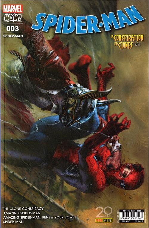 Couverture de Spider-Man (Marvel France 6e série - 2017) -3- La Conspiration des clones (3/5)