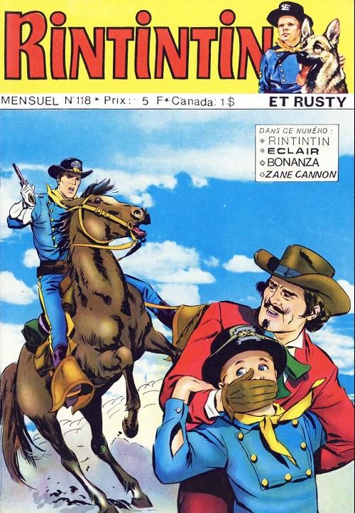 Couverture de Rin Tin Tin & Rusty (2e série) -118- La grotte de la squaw
