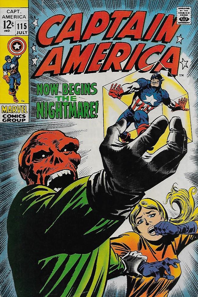 Couverture de Captain America (Marvel comics - 1968) -115- Now Begins The Nightmare!