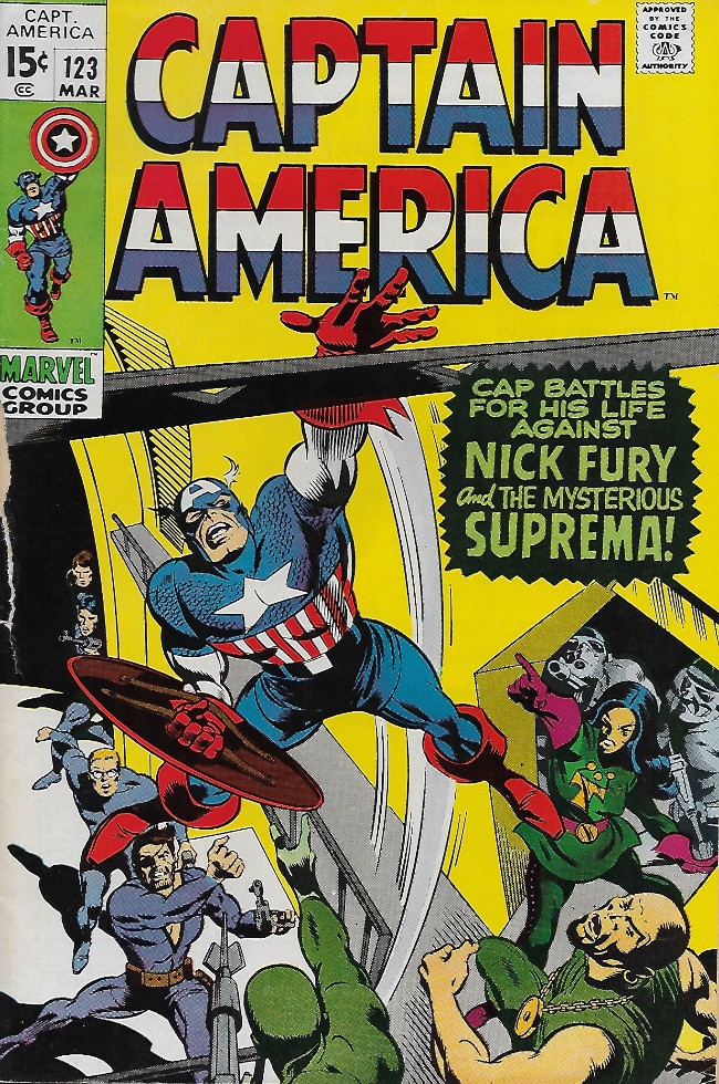 Couverture de Captain America (1968) -123- Suprema, The Deadliest or The Species!