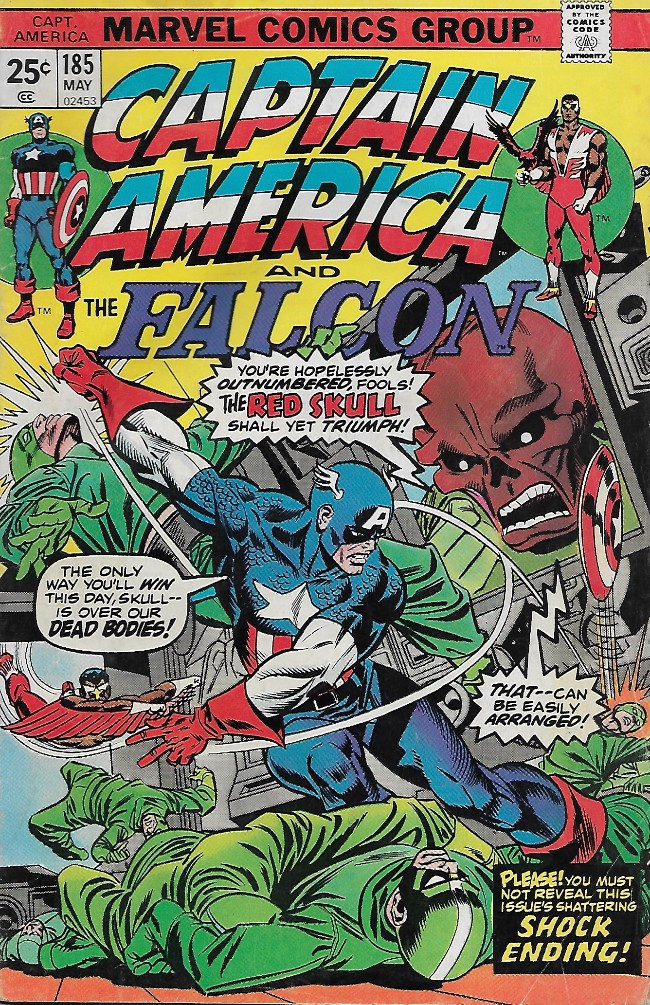 Couverture de Captain America (1968) -185- Scream the Scarlet Skull!