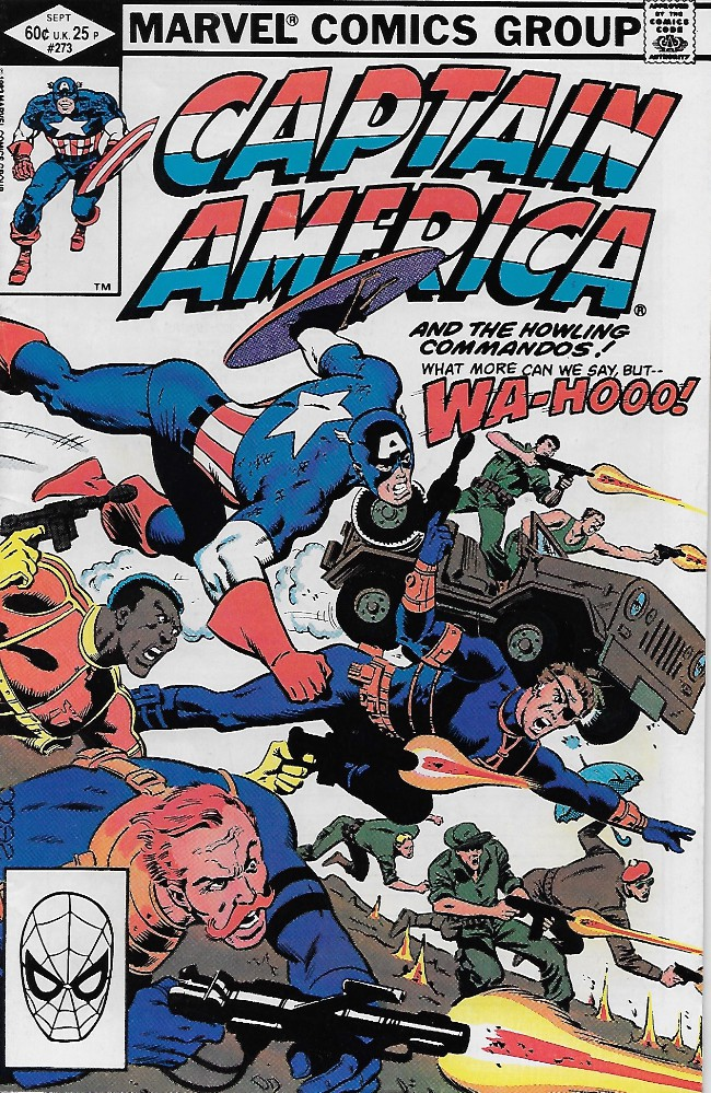 Couverture de Captain America (Marvel comics - 1968) -273- Cap and the Howlers...Together Again!