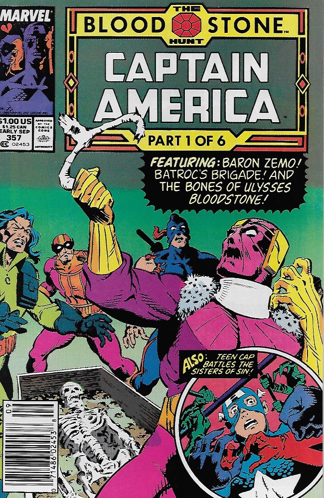 Couverture de Captain America (Marvel comics - 1968) -357- Night of Sin