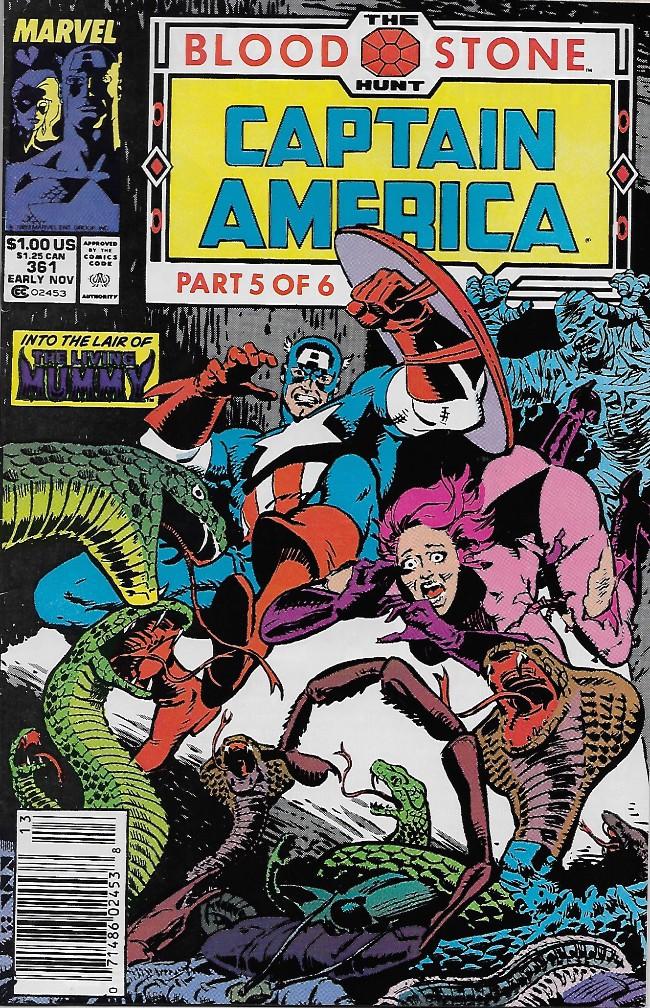 Couverture de Captain America (1968) -361- Blood Stone part 5: Lair of the Living Mummy