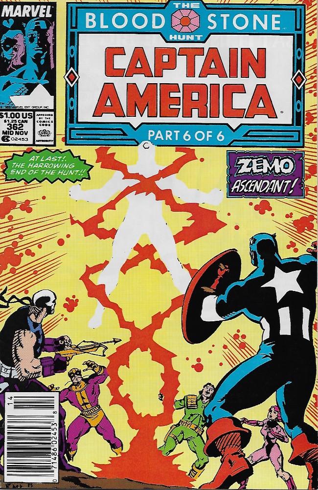 Couverture de Captain America (Marvel comics - 1968) -362- Blood Stone part 6: Necromancing the Stone!