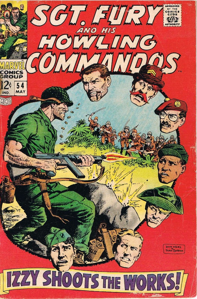 Couverture de Sgt. Fury and his Howling Commandos (Marvel - 1963) -54- Izzy shoots the works !