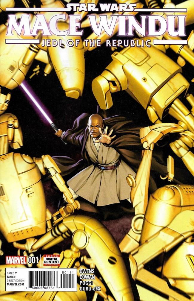 Couverture de Star Wars: Jedi of the Republic - Mace Windu (2017) -1- Book I, Part I : Mace Windu