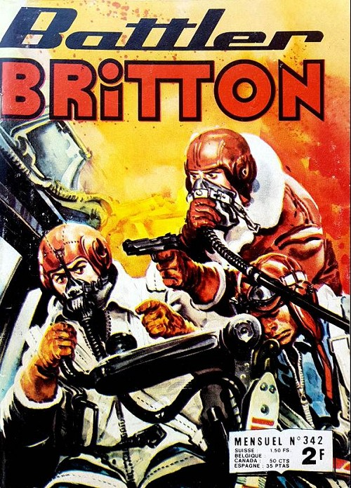 Couverture de Battler Britton -342- L'avion pirate - Le drapeau - Documentaire - La chasse aux scorpions