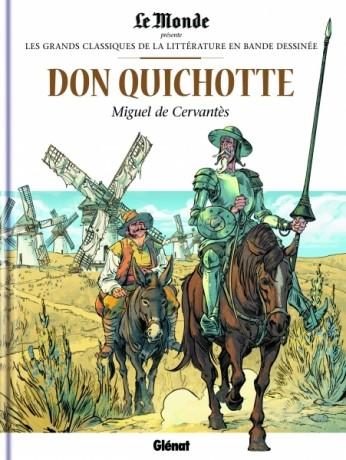 Couverture de Les grands Classiques de la littérature en bande dessinée -18- Don Quichotte