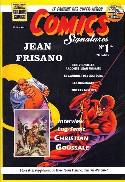 Couverture de (DOC) Comics Signatures -1Bis- Dossier Jean Frisano