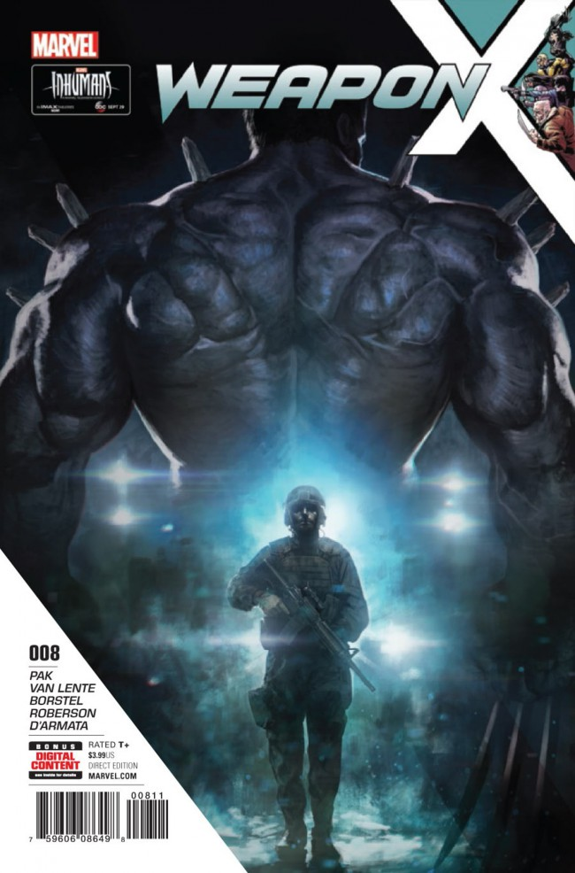 Couverture de Weapon X (2017) -8- The Hunt for Weapon H: Part 2