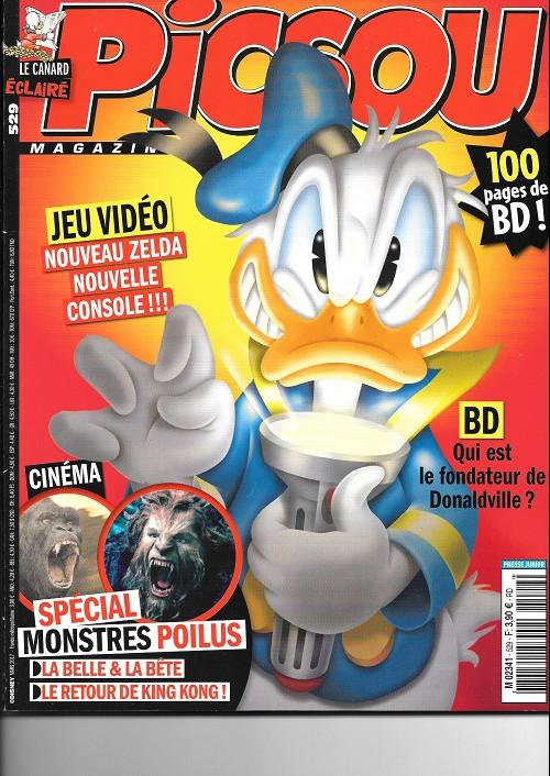 Couverture de Picsou Magazine -529- Les héritages de cornélius ecoutum !