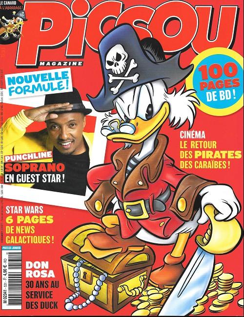Couverture de Picsou Magazine -531- Le corsaire et le lion de castille