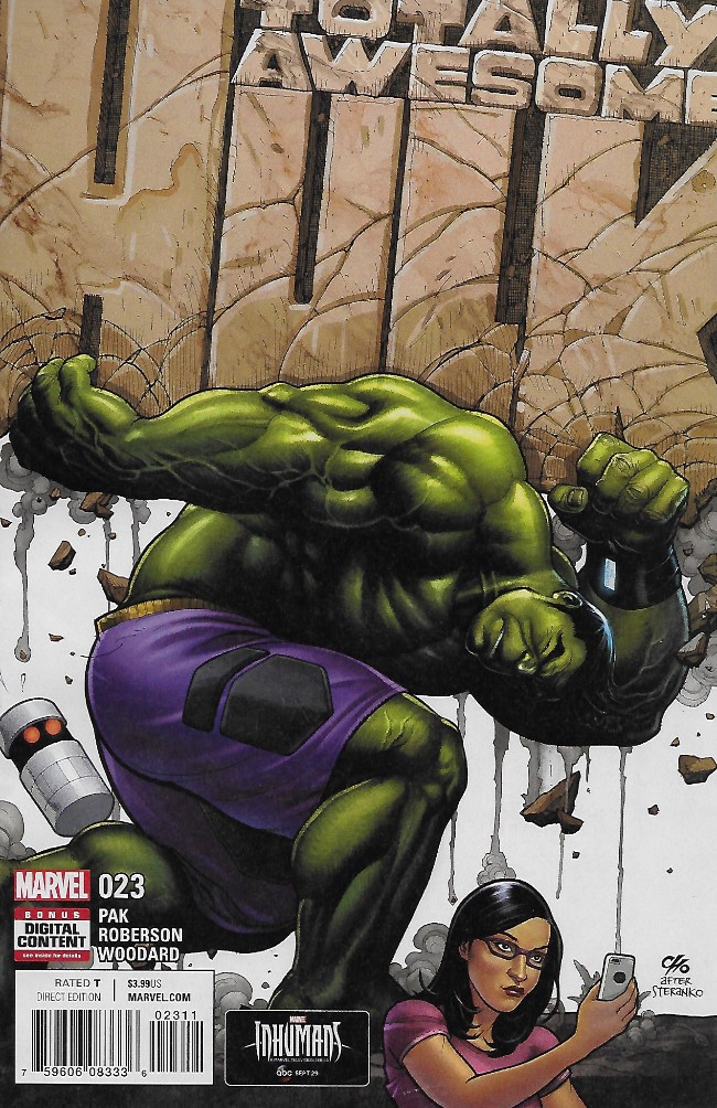 Couverture de Totally Awesome Hulk (The) (2016) -23- Blastofff