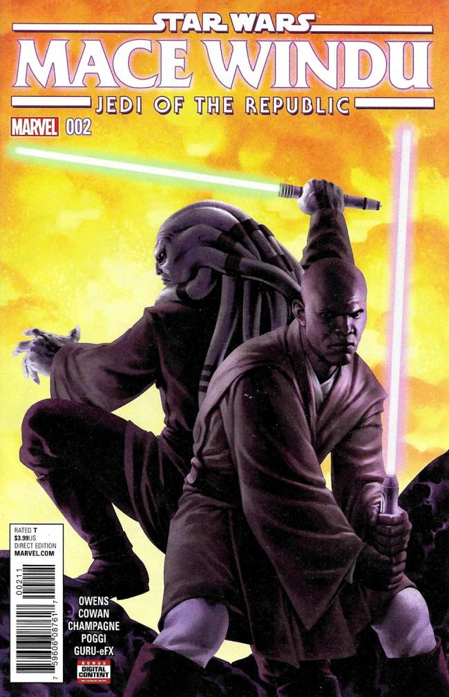 Couverture de Star Wars: Jedi Of The Republic - Mace Windu (2017) -2- Book I, Part II : Mace Windu