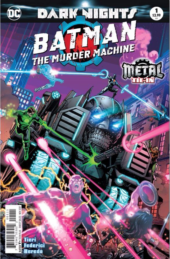 Couverture de Batman: The Murder Machine (2017) -1- Heavy Metal