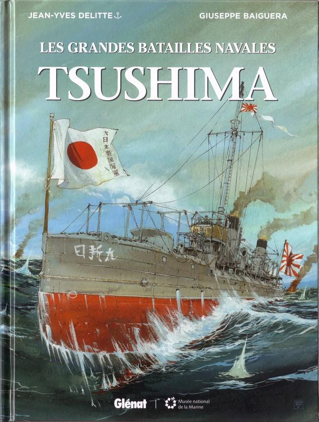Couverture de Les grandes batailles navales -4- Tsushima