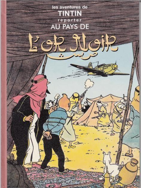 Couverture de Tintin - Pastiches, parodies & pirates - Tintin reporter au pays de l'or noir