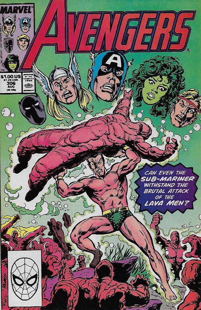 Couverture de Avengers Vol. 1 (Marvel Comics - 1963) -306- There is a Fire Down Below