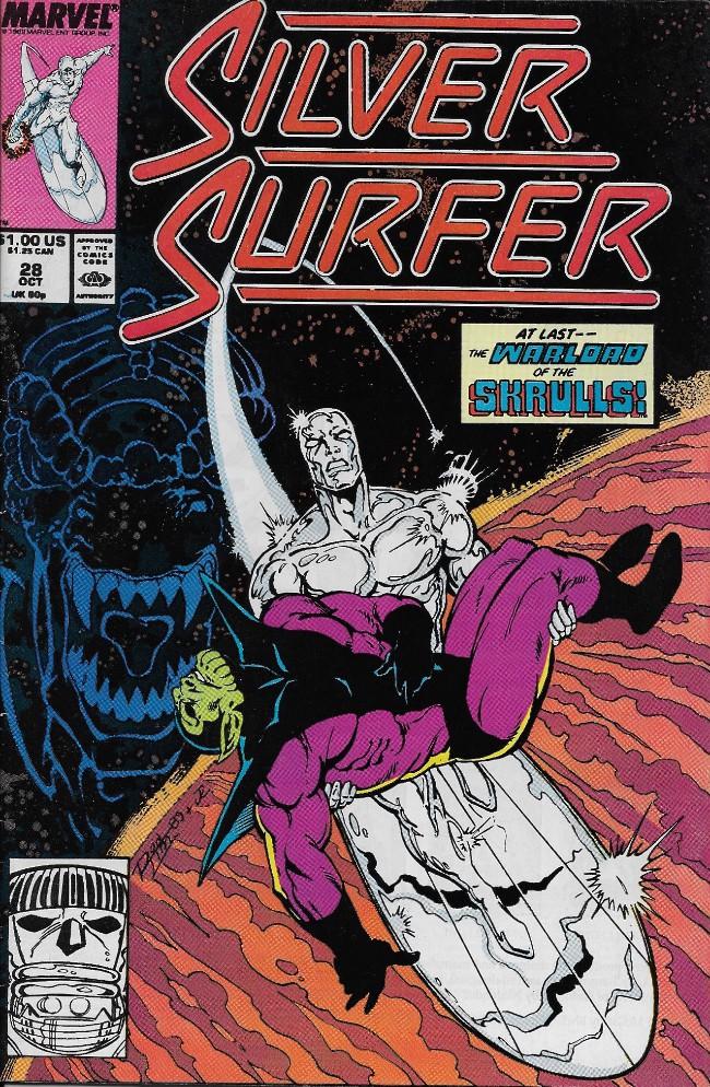 Couverture de Silver Surfer Vol.3 (Marvel comics - 1987) -28- Neanderthals!
