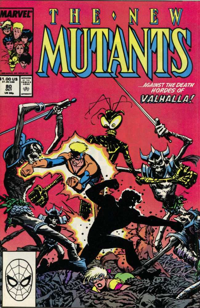 Couverture de New Mutants (The) (1983) -80- Curse of the Valkyries