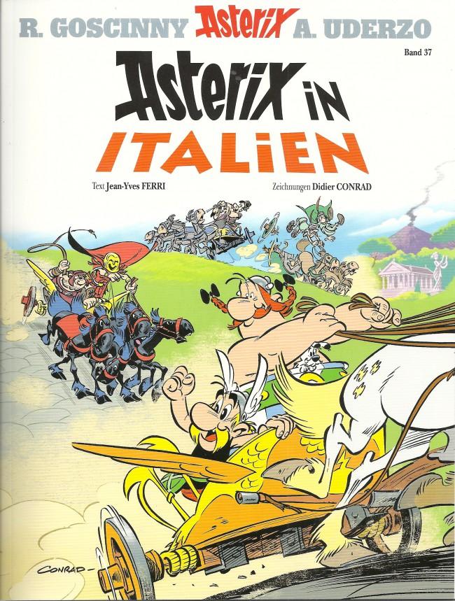 Couverture de Astérix (en allemand) -37- Asterix in Italien