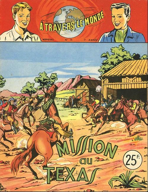 Couverture de À travers le monde (2e série) -75- Mission au Texas